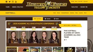 Baldwin-Wallace Yellow Jackets Softball