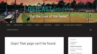 OUTCAST fastpitch 2018/2019 Tryouts