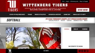 Wittenberg Tigers Softball
