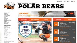 ONU - Polar Bears Softball