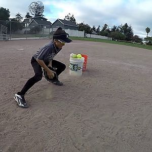 Samantha Rey 10yrs old Fielding Workout - YouTube